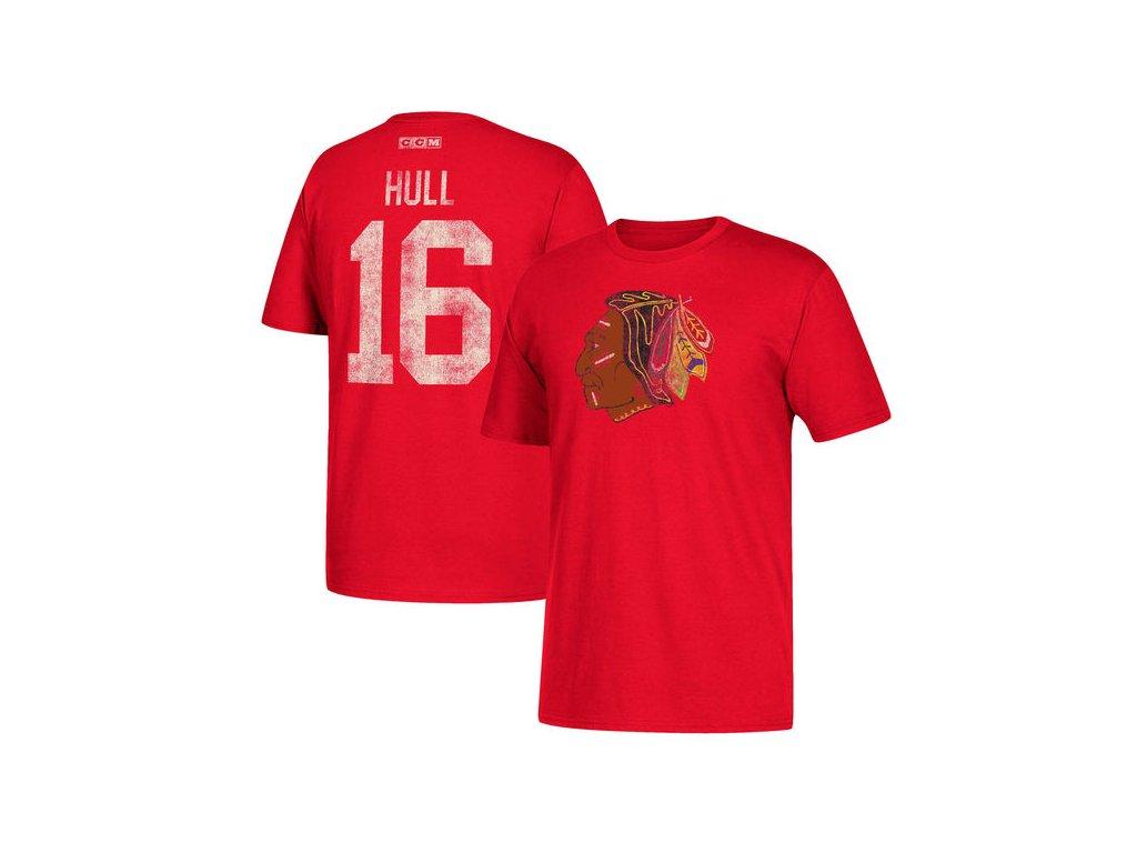 Tričko #16 Bobby Hull Chicago Blackhawks Retired
