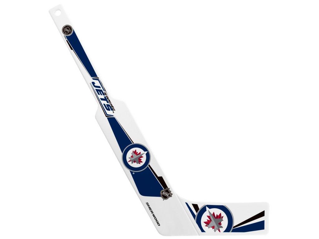 Plastová Minihokejka Winnipeg Jets Sherwood Goalie