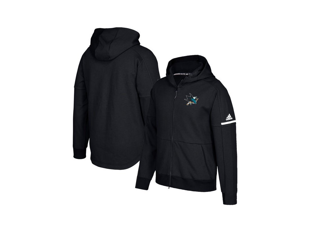 Mikina San Jose Sharks Authentic Pro Squad ID Full-Zip Hood