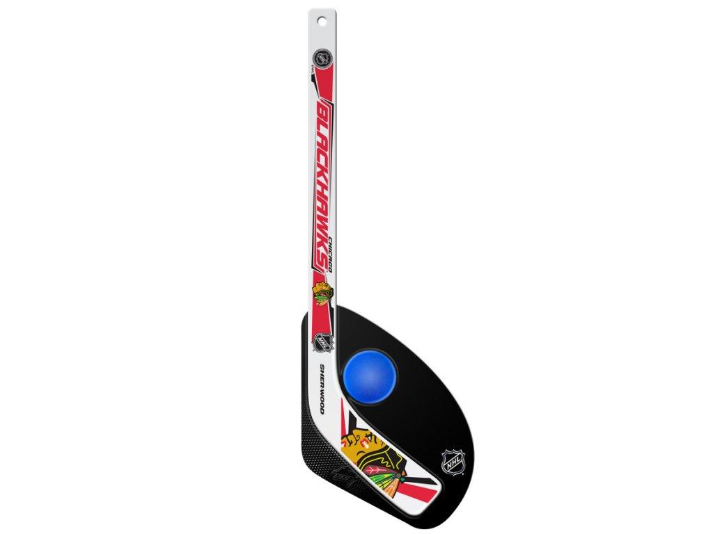 Plastová Minihokejka Chicago Blackhawks Sherwood Hattrick