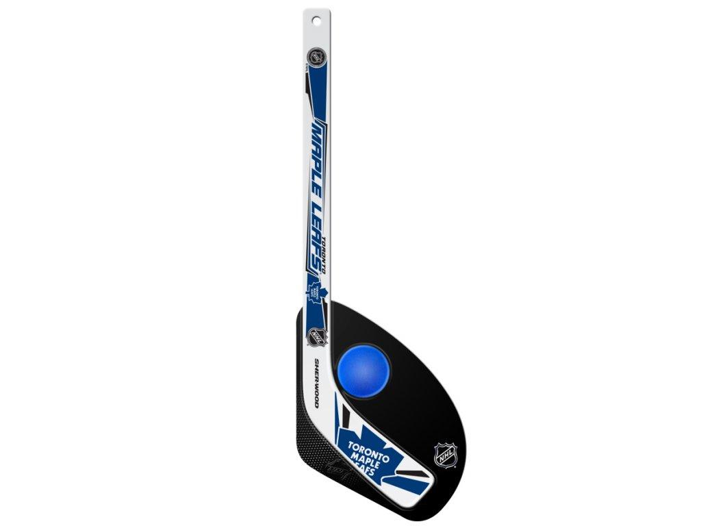 Plastová Minihokejka Toronto Maple Leafs Sherwood Hattrick
