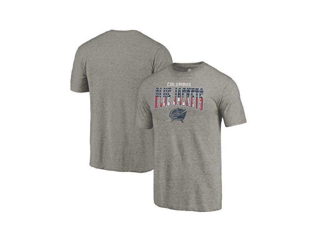 Tričko Columbus Blue Jackets Freedom Tri-Blend