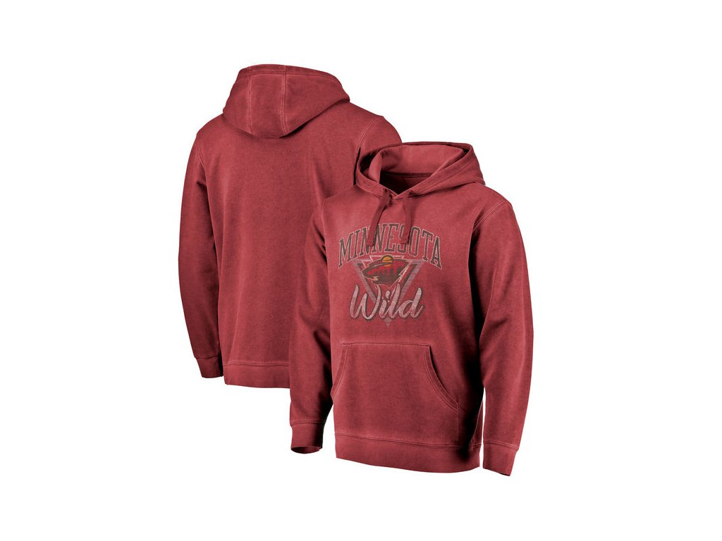 Mikina Minnesota Wild Shadow Washed Retro Arch Pullover Hoodie