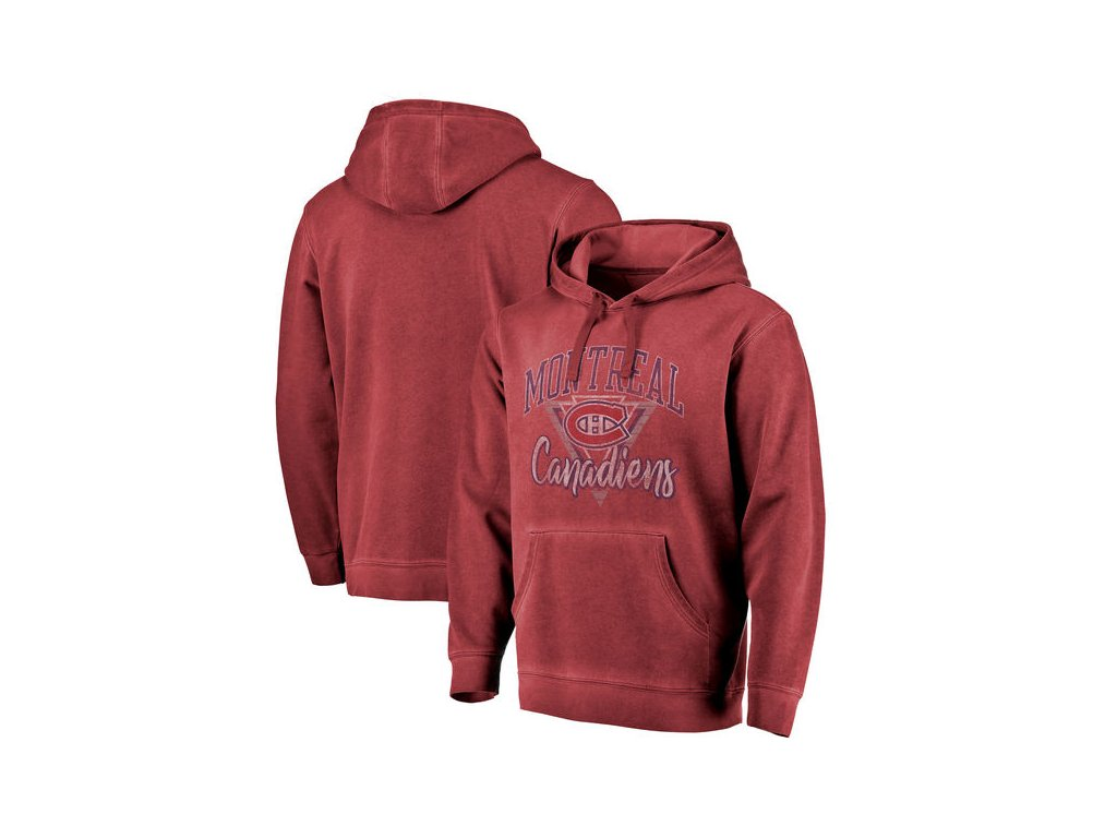 Mikina Montreal Canadiens Shadow Washed Retro Arch Pullover Hoodie