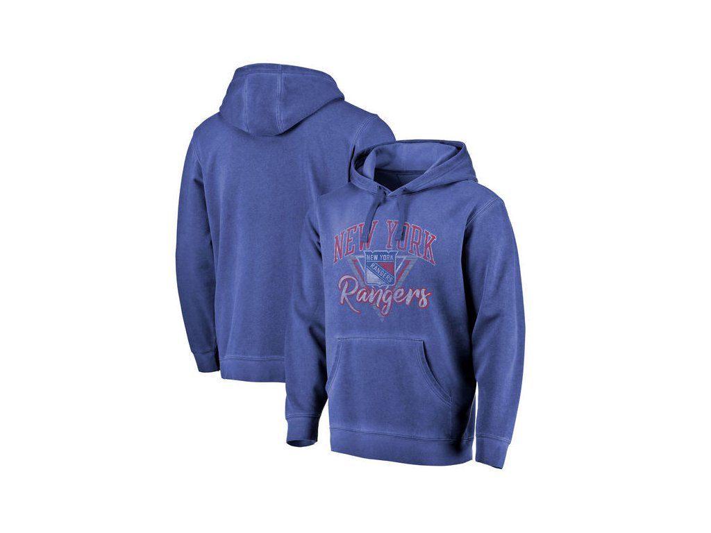 Mikina New York Rangers Shadow Washed Retro Arch Pullover Hoodie