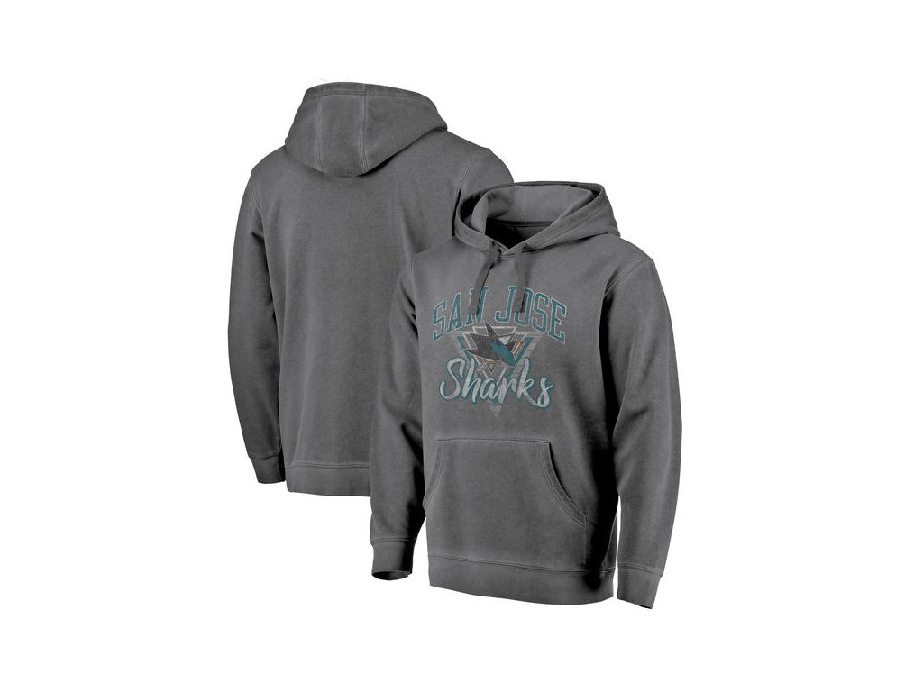 Mikina San Jose Sharks Shadow Washed Retro Arch Pullover Hoodie