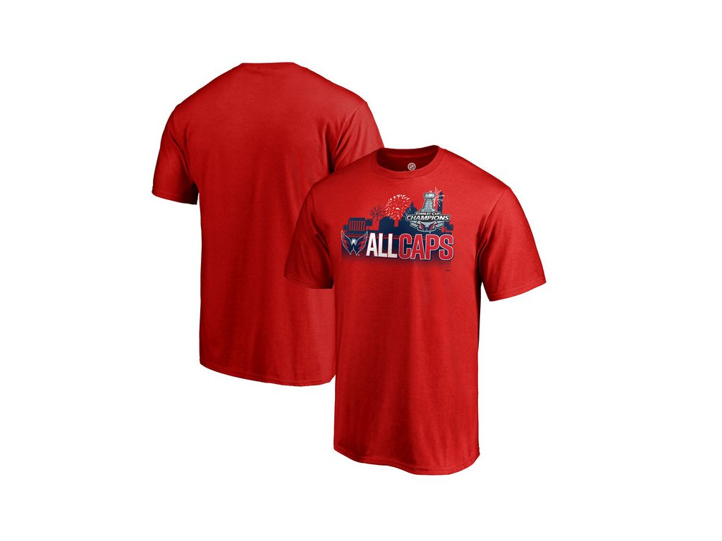 Tričko Washington Capitals 2018 Stanley Cup Champions Change On The Fly Celebration Red