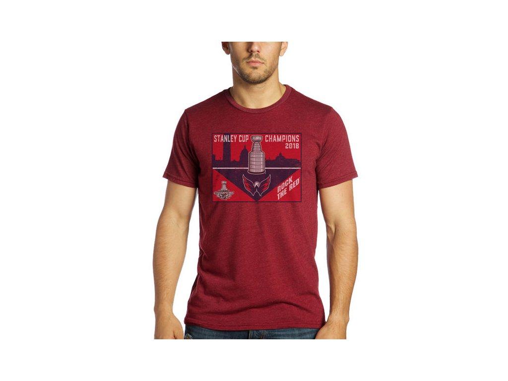 Tričko Washington Capitals 2018 Stanley Cup Champions Juggernaut Tri-Blend