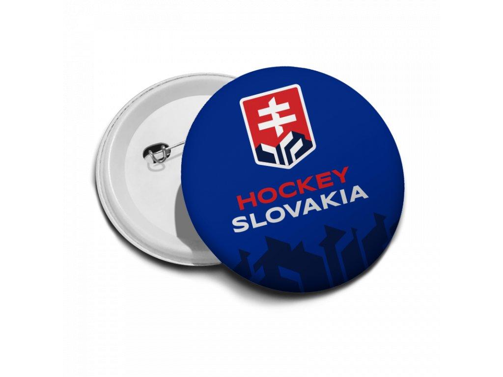 Odznak modrý logo Hockey Slovakia