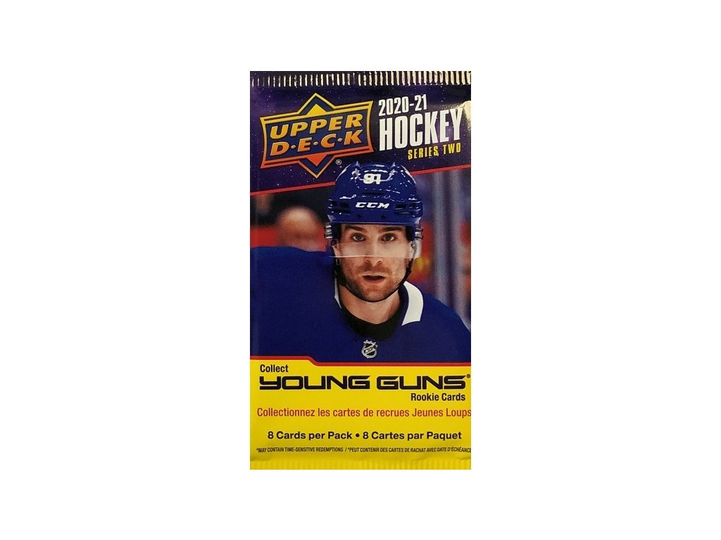 Hokejové Karty NHL 2020-21 Upper Deck Series 2 Retail Gravity Feed Balíček