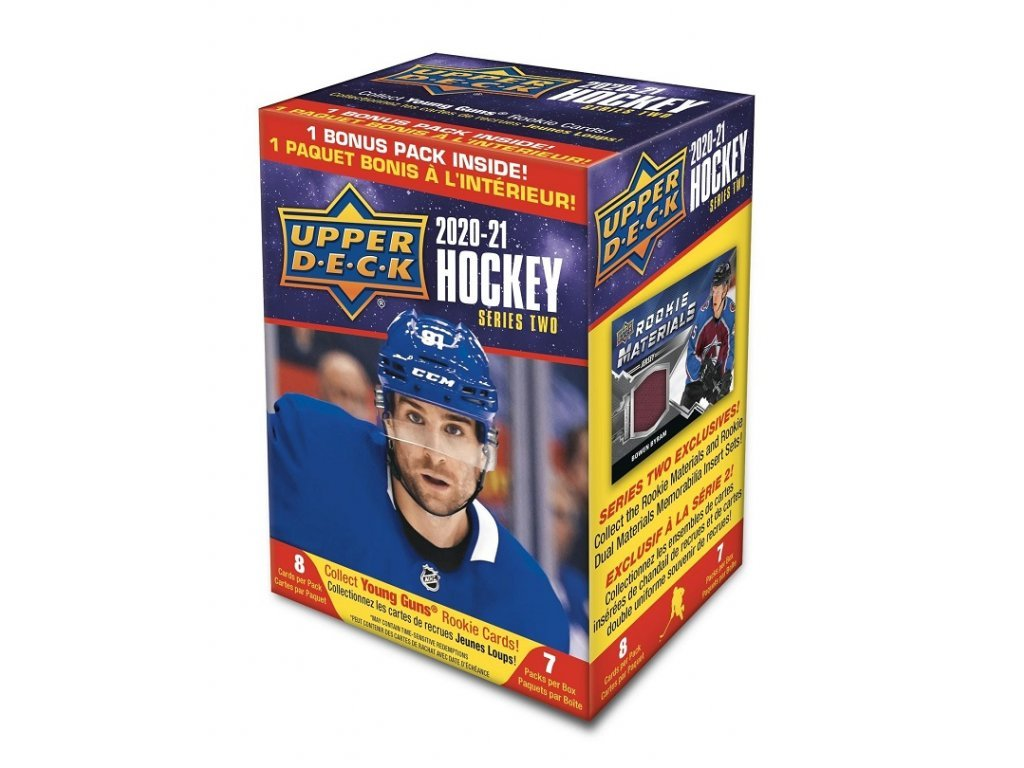 Hokejové Karty NHL 2020-21 Upper Deck Series 2 Blaster Box
