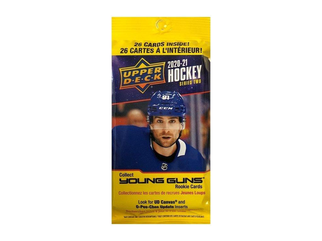 Hokejové Karty NHL 2020-21 Upper Deck Series 2 FAT Balíček