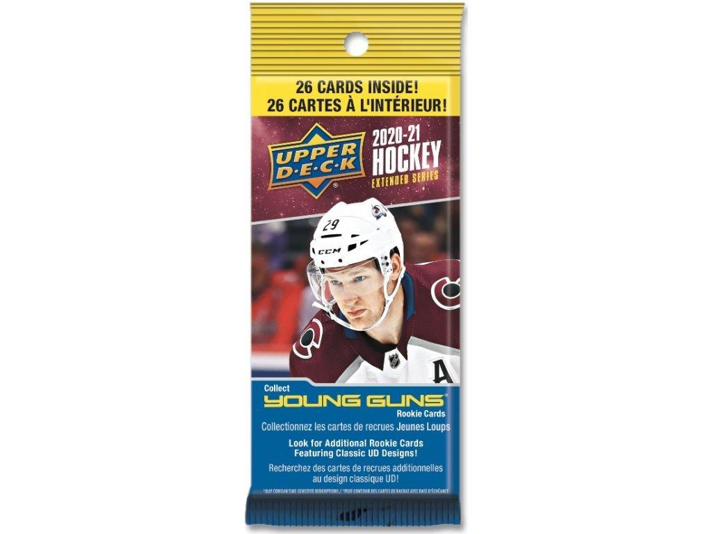 Hokejové Karty NHL 2020-21 UD Extended Series Hockey FAT Balíček
