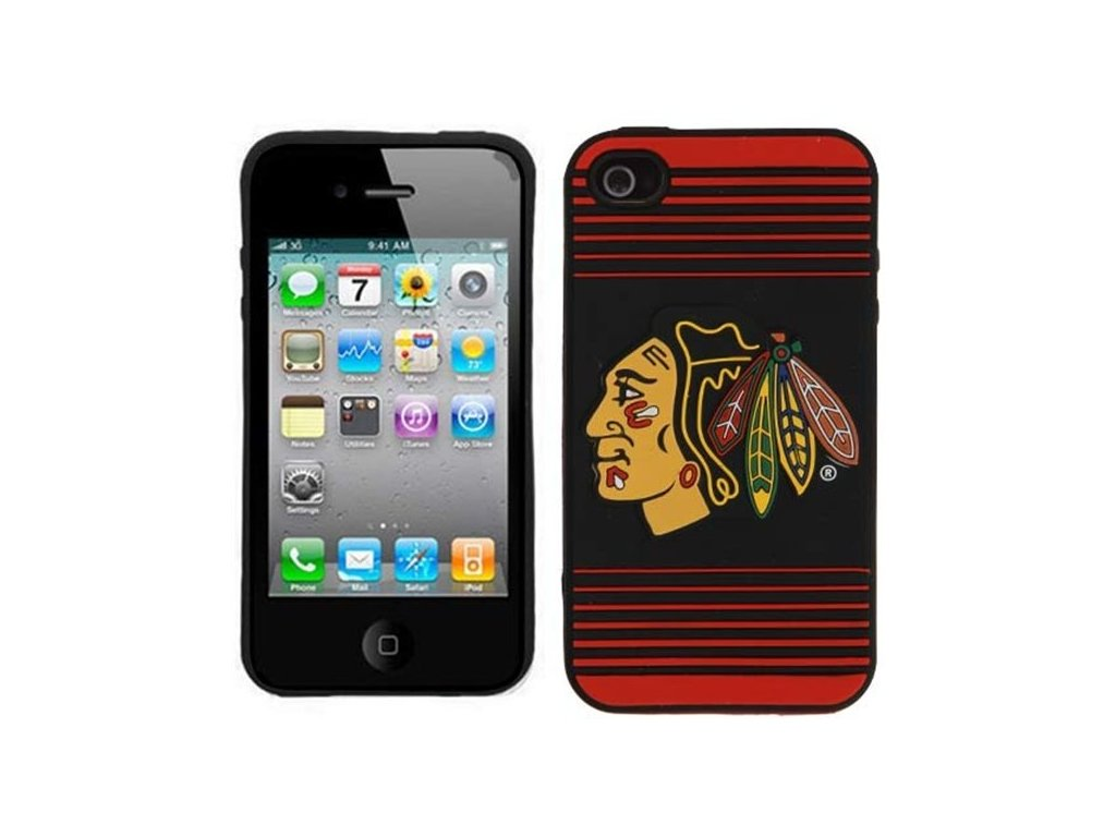 NHL kryt Iphone 4/4S Chicago Blackhawks Silicone