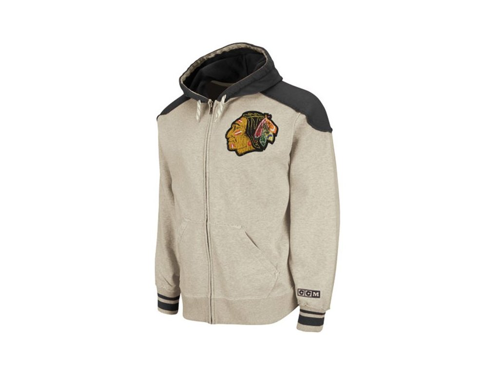 NHL mikina Chicago Blackhawks Team Classic Full Zip