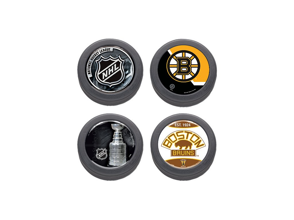 Puk Set - Boston Bruins - 4 kusy