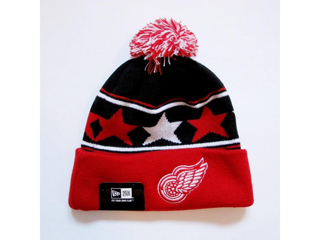 Zimná čiapka - Detroit Red Wings pommy star