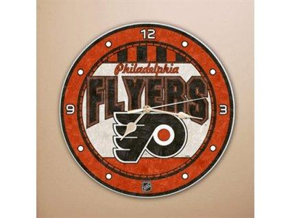NHL Nástenné hodiny Philadelphia Flyers Art Glass Wall