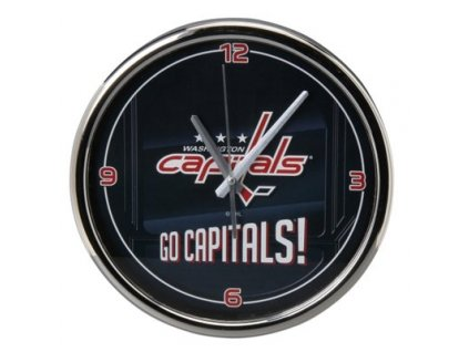 NHL Nástenné hodiny Washington Capitals Chrome Wall