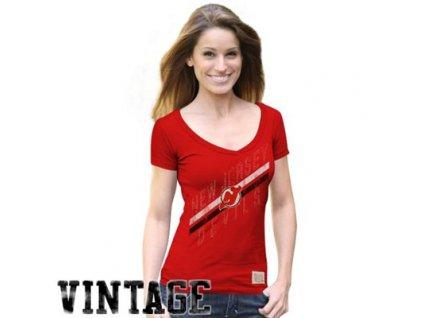 Tričko - Vintage Deep - New Jersey Devils - Dámske