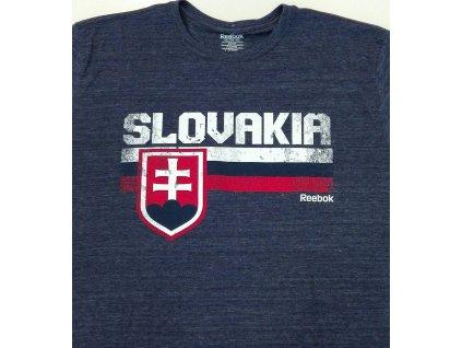 Tričko REEBOK Team Stripes SLOVAKIA NAVY