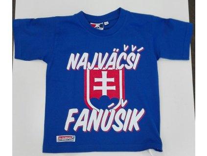 Detské tričko SLOVAKIA Najväčší Fanúšik