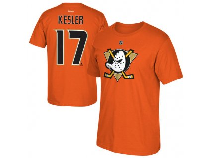 Tričko #17 Ryan Kesler Anaheim Ducks Orange