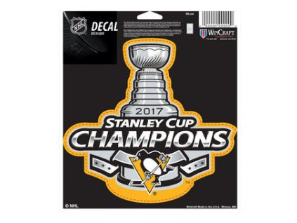 Samolepka Pittsburgh Penguins 2017 Stanley Cup Champions 12.5 x 17.5