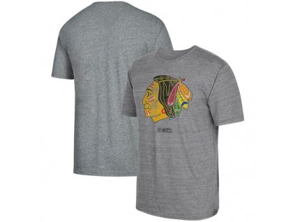 Tričko Chicago Blackhawks Heritage Logo Series Tri-Blend