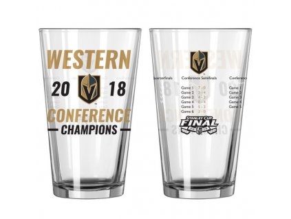 Pohár Vegas Golden Knights 2018 Western Conference Champions Pint Glass