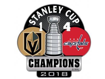 Odznak Washington Capitals 2018 Stanley Cup Champions Score Pin