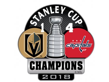 Odznak Washington Capitals 2018 Stanley Cup Champions Score Pin