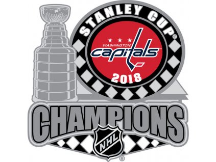 Odznak Washington Capitals 2018 Stanley Cup Champions Trophy Pin