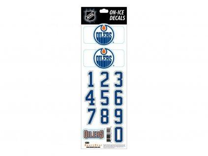 Samolepky na prilbu Edmonton Oilers Decals