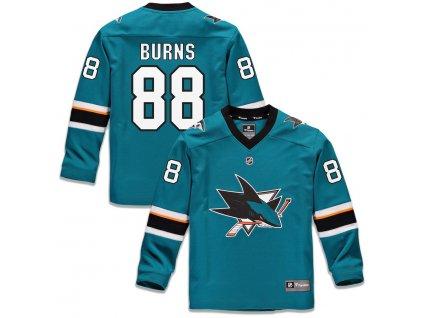 Detský Dres #88 Brent Burns San Jose Sharks Replica Home Jersey