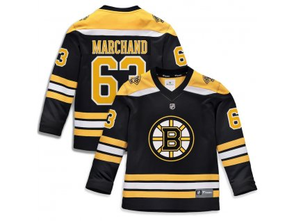 Detský Dres #63 Brad Marchand Boston Bruins Replica Home Jersey