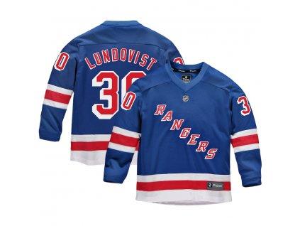 Detský Dres #30 Henrik Lundqvist New York Rangers Replica Home Jersey