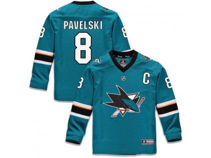 Detský Dres #8 Joe Pavelski San Jose Sharks Replica Home Jersey