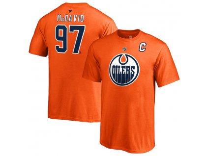 Detské Tričko #97 Connor McDavid Edmonton Oilers Stack Logo Name & Number