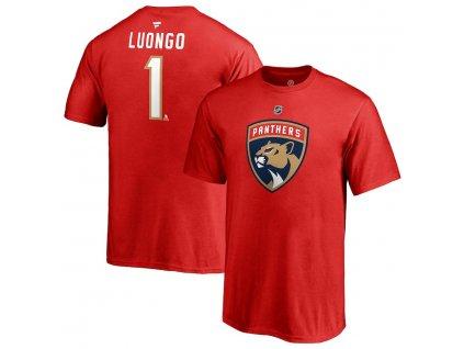 Detské Tričko #1 Roberto Luongo Florida Panthers Stack Logo Name & Number