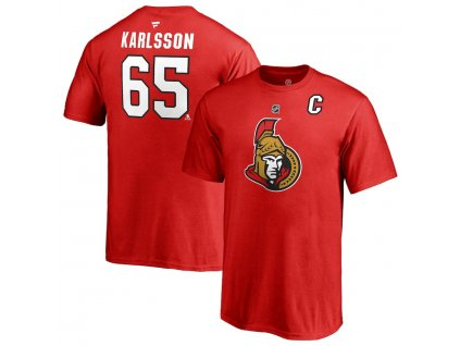 Detské Tričko #65 Erik Karlsson Ottawa Senators Stack Logo Name & Number