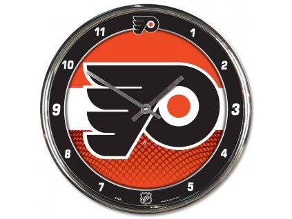 Hodiny Philadelphia Flyers WinCraft Chrome Wall Clock