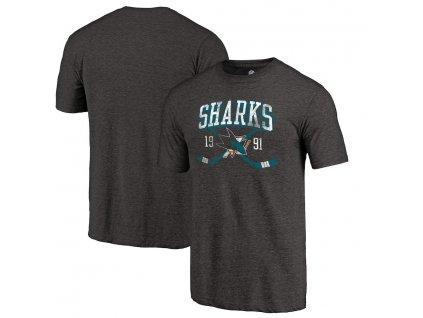 Tričko San Jose Sharks Vintage Line Shift Tri-Blend
