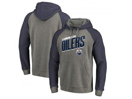 Mikina Edmonton Oilers Slant Strike Hoodie Tri-Blend