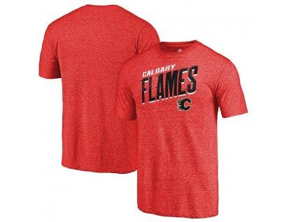 Tričko Calgary Flames Slant Strike Tri-Blend