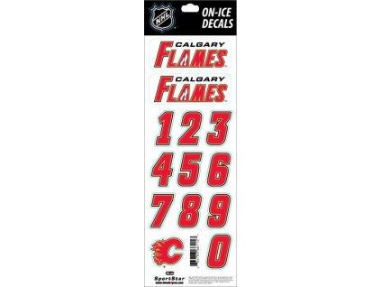 Samolepky na prilbu Calgary Flames Decals