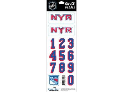 Samolepky na prilbu New York Rangers Decals