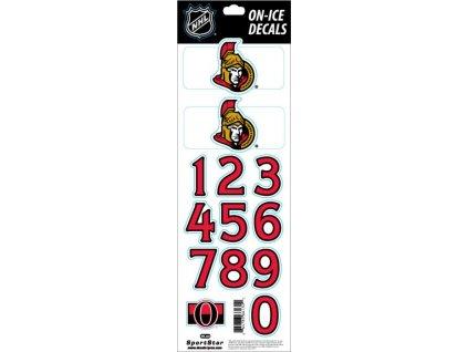 Samolepky na prilbu Ottawa Senators Decals