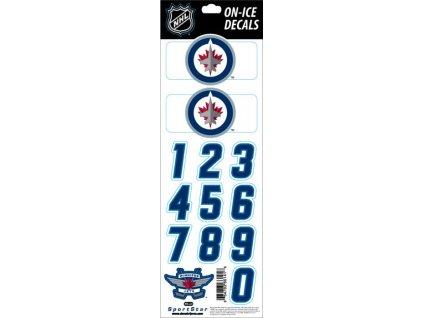 Samolepky na prilbu Winnipeg Jets Decals