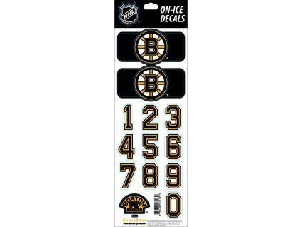 Samolepky na prilbu Boston Bruins Decals Black